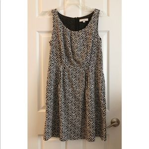 LOFT Sleeveless Polka Dot Dress With Pockets